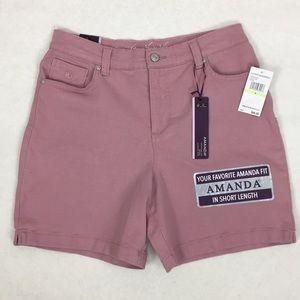 Gloria Vanderbilt Amanda Denim Shorts Mauve New
